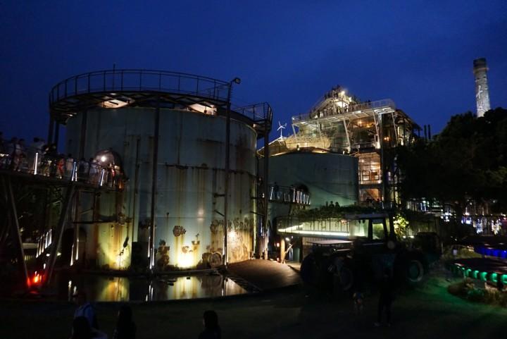 【台南景點】星空下的廢棄工廠實在太酷了~十鼓文創園區,請記得晚上來